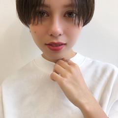 ショートヘア マッシュショート ナチュラル ショート ヘアスタイルや髪型の写真・画像