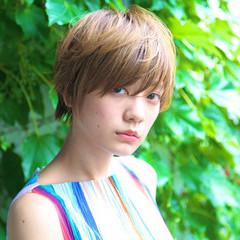 ナチュラル 外国人風 ショート 大人かわいい ヘアスタイルや髪型の写真・画像