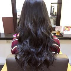 ロング 暗髪 パープル 渋谷系 ヘアスタイルや髪型の写真・画像