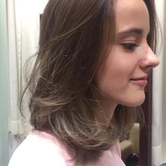 グラデーションカラー ハイライト 外国人風 フェミニン ヘアスタイルや髪型の写真・画像