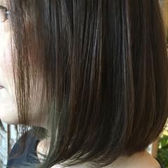 ボブ 色気 透明感 アッシュ ヘアスタイルや髪型の写真・画像