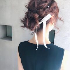 ゆるふわ ハーフアップ ミディアム 簡単ヘアアレンジ ヘアスタイルや髪型の写真・画像