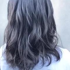 ブルー ナチュラル パープル 秋 ヘアスタイルや髪型の写真・画像