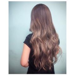 ハイライト 外国人風 グラデーションカラー ロング ヘアスタイルや髪型の写真・画像