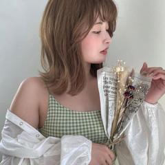 外ハネ 透明感カラー イルミナカラー ナチュラル ヘアスタイルや髪型の写真・画像