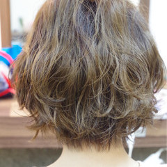 ナチュラル 前髪あり ショート 簡単ヘアアレンジ ヘアスタイルや髪型の写真・画像