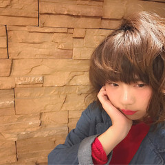 黒髪 ふわふわ かわいい ガーリー ヘアスタイルや髪型の写真・画像