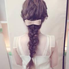 ロング ナチュラル ヘアアレンジ フェミニン ヘアスタイルや髪型の写真・画像