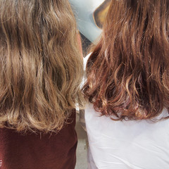 ゆるふわ ナチュラル ハイライト ロング ヘアスタイルや髪型の写真・画像