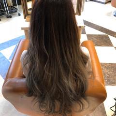 ロング ブラウンベージュ 外国人風カラー ミルクティーベージュ ヘアスタイルや髪型の写真・画像