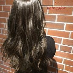 グラデーションカラー 外国人風 ロング ブルージュ ヘアスタイルや髪型の写真・画像