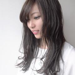 秋 セミロング 透明感 外国人風カラー ヘアスタイルや髪型の写真・画像