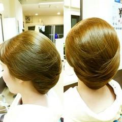 着物 ヘアアレンジ セミロング シニヨン ヘアスタイルや髪型の写真・画像