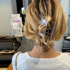 ヘアアレンジ お呼ばれヘア セルフアレンジ セミロング ヘアスタイルや髪型の写真・画像