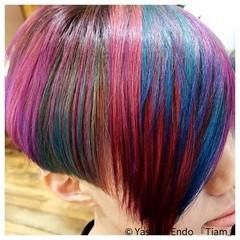 刈り上げ女子 大人ヘアスタイル ノースタイリング モード ヘアスタイルや髪型の写真・画像