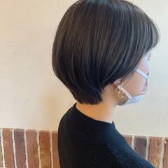 ショートボブ アッシュ ショート アッシュグレー ヘアスタイルや髪型の写真・画像