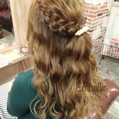 ヘアアレンジ 簡単ヘアアレンジ 愛され ハーフアップ ヘアスタイルや髪型の写真・画像