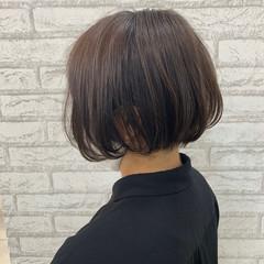 アディクシーカラー ミニボブ ボブ ショートヘア ヘアスタイルや髪型の写真・画像