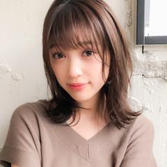 デジタルパーマ 外ハネ ミディアム 毛先パーマ ヘアスタイルや髪型の写真・画像