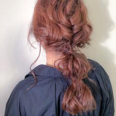 セミロング 成人式 ヘアカラー ヘアアレンジ ヘアスタイルや髪型の写真・画像
