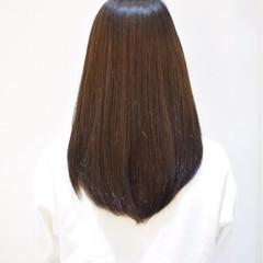 オン眉 ナチュラル ストレート 縮毛矯正 ヘアスタイルや髪型の写真・画像