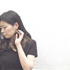ダブルカラー 大人かわいい グラデーションカラー 黒髪 ヘアスタイルや髪型の写真・画像
