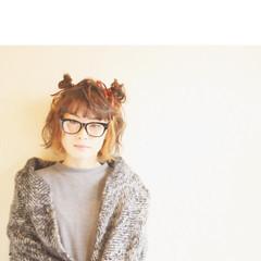 ミディアム ショート 大人かわいい フェミニン ヘアスタイルや髪型の写真・画像