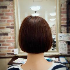 ワイドバング ハイライト ボブ フェミニン ヘアスタイルや髪型の写真・画像