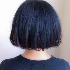 ストリート アッシュ ボブ モード ヘアスタイルや髪型の写真・画像