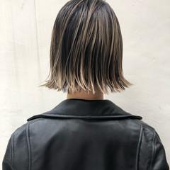 グレージュ 外国人風カラー アンニュイほつれヘア ボブ ヘアスタイルや髪型の写真・画像