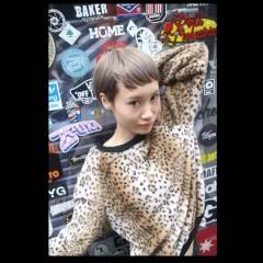 ハイトーン ウェットヘア ストレート ショート ヘアスタイルや髪型の写真・画像
