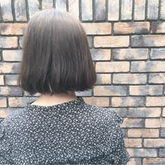 ナチュラル アッシュ ボブ ハイライト ヘアスタイルや髪型の写真・画像