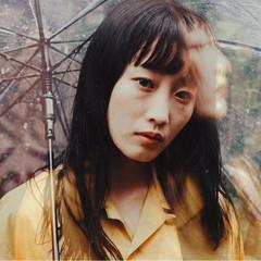 前髪あり 透明感 梅雨 秋 ヘアスタイルや髪型の写真・画像