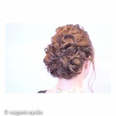 ヘアアレンジ 結婚式 ガーリー アンニュイ ヘアスタイルや髪型の写真・画像