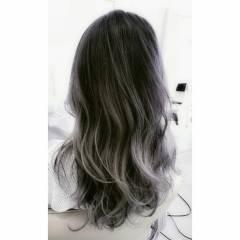 ロング パンク 外国人風 アッシュ ヘアスタイルや髪型の写真・画像