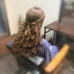 ヘアセット ヘアアレンジ ハーフアップ ロング ヘアスタイルや髪型の写真・画像