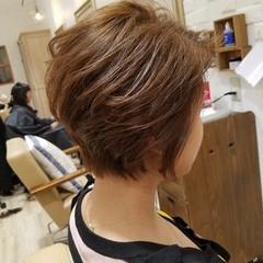 ショート ショートボブ オフィス ヘアアレンジ ヘアスタイルや髪型の写真・画像