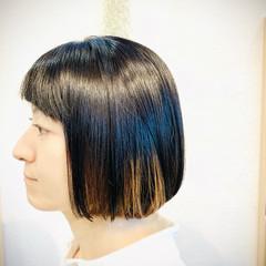 モード ボブ ヘアスタイルや髪型の写真・画像