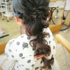 暗髪 くせ毛風 ショート ヘアアレンジ ヘアスタイルや髪型の写真・画像