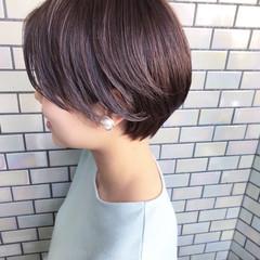 ベリーショート ナチュラル ハンサムショート ショートヘア ヘアスタイルや髪型の写真・画像