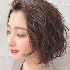 ミディアムヘアー 簡単ヘアアレンジ ボブ 似合わせカット ヘアスタイルや髪型の写真・画像