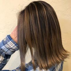 外ハネボブ ストリート 透け感アッシュ 透け感ヘア ヘアスタイルや髪型の写真・画像