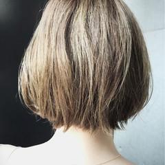 透明感 ハイライト ショート ボブ ヘアスタイルや髪型の写真・画像