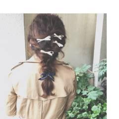 ヘアアレンジ パーティ ミディアム 波ウェーブ ヘアスタイルや髪型の写真・画像