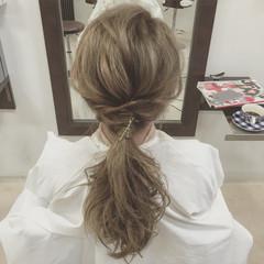 簡単ヘアアレンジ ロング ショート 外国人風 ヘアスタイルや髪型の写真・画像