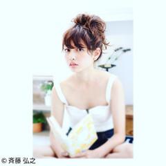 抜け感 かわいい 簡単ヘアアレンジ ショート ヘアスタイルや髪型の写真・画像