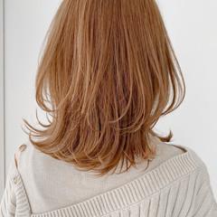ミディアム アンニュイほつれヘア モテ髪 モテ髮シルエット ヘアスタイルや髪型の写真・画像
