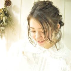 ヘアアレンジ ミディアム デート 結婚式 ヘアスタイルや髪型の写真・画像