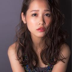 アンニュイ モード 色気 セミロング ヘアスタイルや髪型の写真・画像