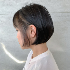 インナーカラー 大人グラボブ ストリート イルミナカラー ヘアスタイルや髪型の写真・画像